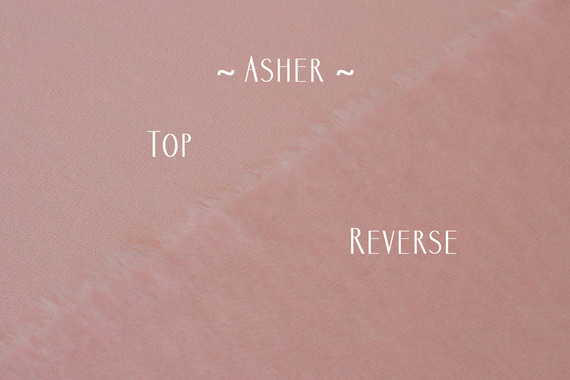 ~ Asher ~ double sided fabric in baby pink