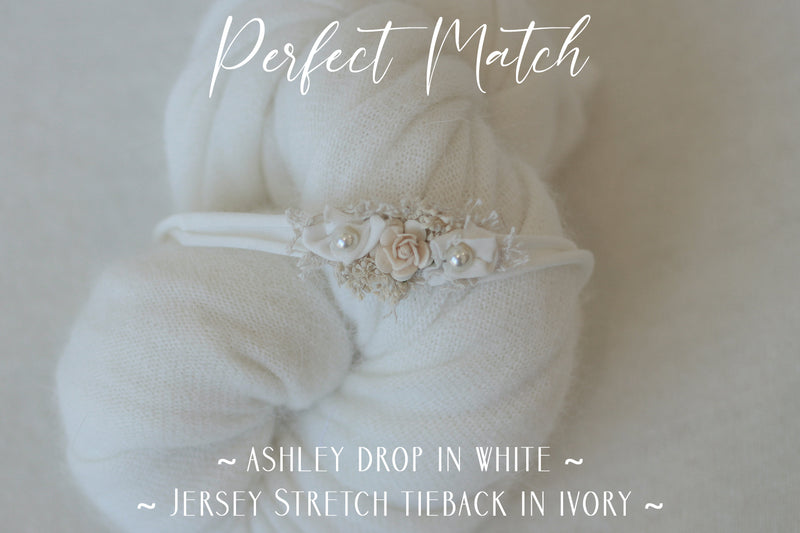 ~ Jersey Stretch tieback  ~ in Ivory