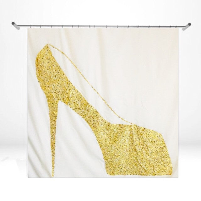 Gold Shower Curtain - LNikkole Home
