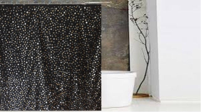 Luxury Shower Curtain Of Raining Rhinestones   LNikkole Home