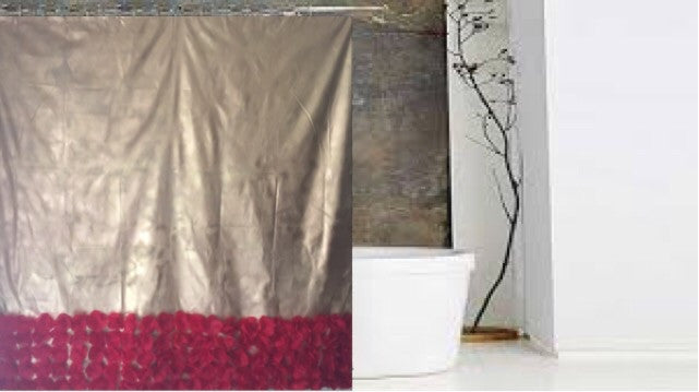 Gold and Red Shower Curtain - LNikkole Home