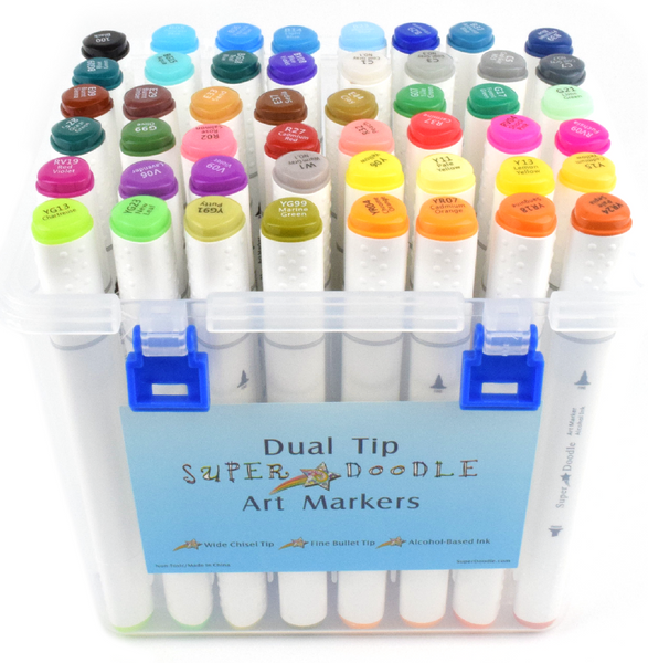 Markers - 48 Dual Tip Sketch Pens
