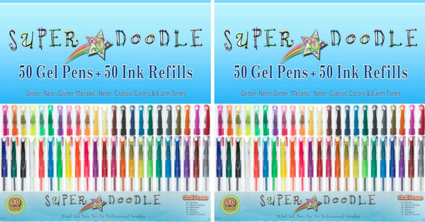 Two 100 Variety Coloring Sets Bundle