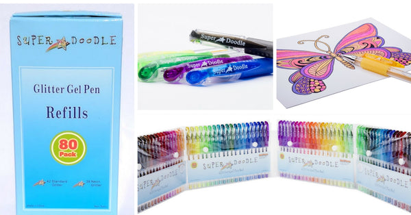 Gel Pens - 160 Glitter Coloring Set
