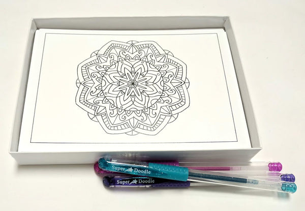 Coloring Cards - Mandala Designs
