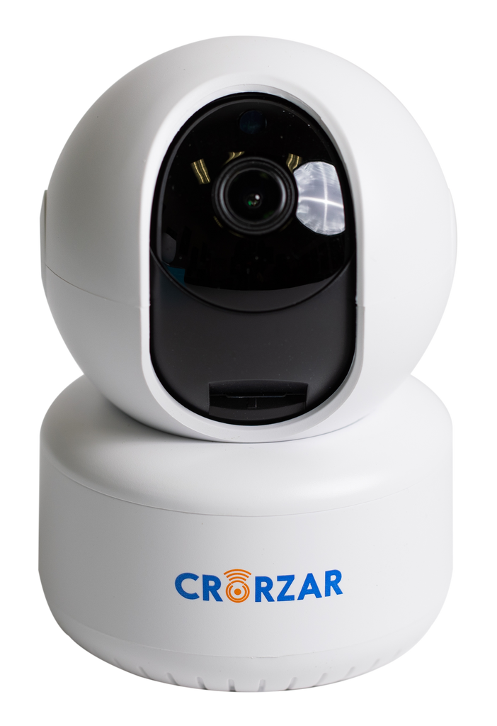 Crorzar 360 Smart Cam Bundle with 32GB Upgraded SD Card Pre-Installed and 20 Foot Power Cord