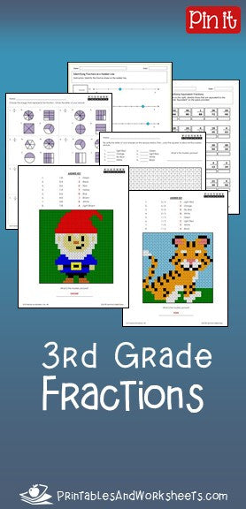 3rd Grade Fractions Worksheets