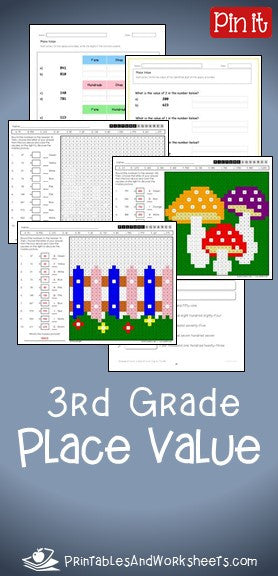 3rd Grade Place Value Worksheets Printables Amp Worksheets