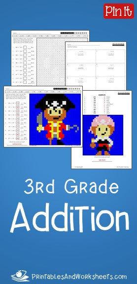 3rd Grade Addition Worksheets