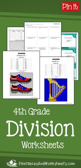 4th Grade Division Worksheets