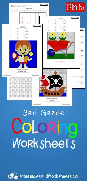 3rd Grade Math Coloring Worksheets