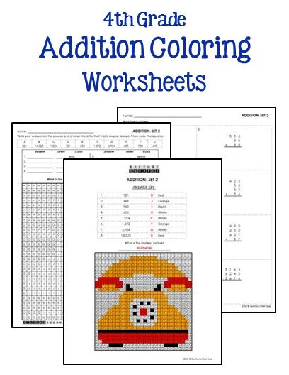4th Grade Addition and Subtraction Worksheets - Printables ...