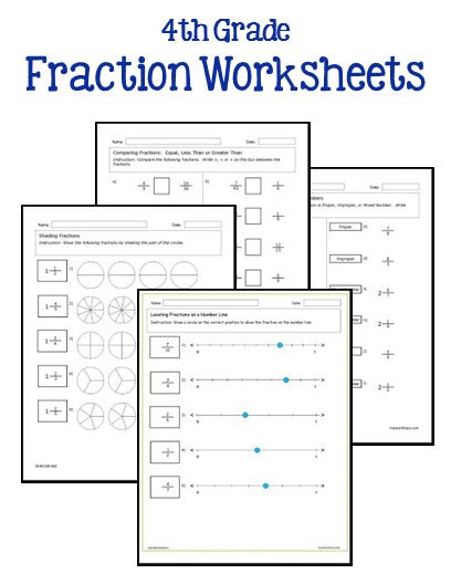 th grade fraction worksheets  printables  worksheets th grade fraction worksheets