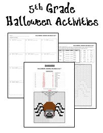 math worksheet : halloween math worksheets  printables  worksheets : 5th Grade Halloween Math Worksheets