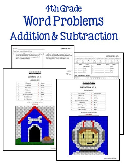 4th grade addition and subtraction worksheets printables worksheets. Black Bedroom Furniture Sets. Home Design Ideas