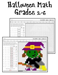 Halloween Math Worksheets for Grades 2-6