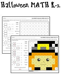 Halloween Math Worksheets For K 2