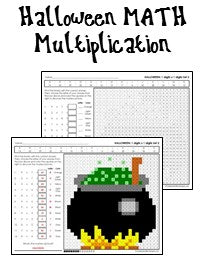 Halloween Multiplication And Division Worksheets Worksheets For ...