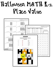 Halloween Place Value Worksheets for K-2