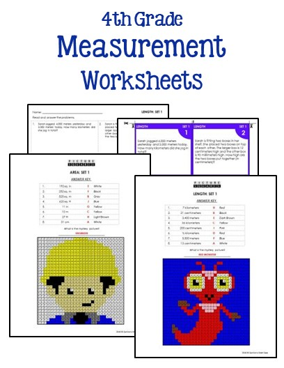 4th grade measurement worksheets printables worksheets. Black Bedroom Furniture Sets. Home Design Ideas