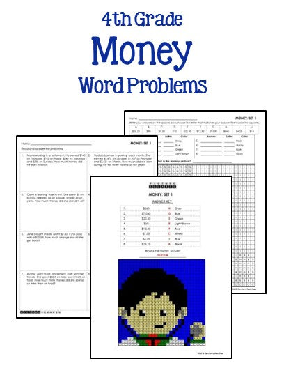 money-word-problems-4th-grade  Th Grade Multi Step Addition And Subtraction Word Problems on