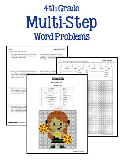 multi-step-word-problems-4th-grade-4  Th Grade Multi Step Addition And Subtraction Word Problems on