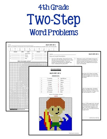 4th Grade Math Word Problems Printables Worksheets