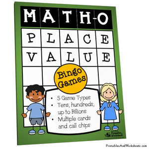 Place Value Game Bingo Math-O Cover