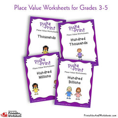 Place Value Worksheets (Grades 3-5)