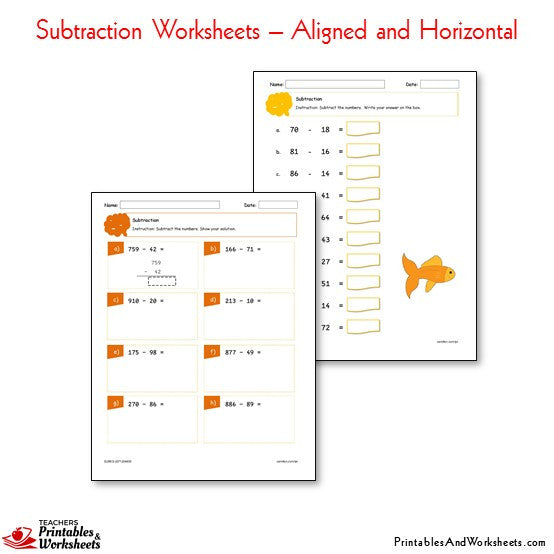 Subtraction Worksheets Printables Worksheets