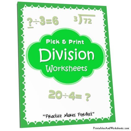 Division Worksheets Bundle Cover