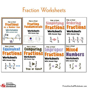 Fractions Worksheets with Answer Keys Fundamentals
