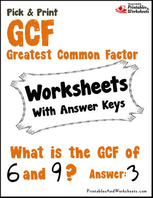 Greatest Common Factor (CF) Worksheets Cover
