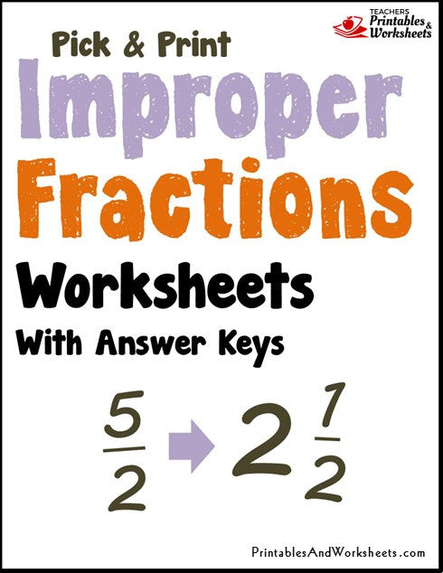 Improper Fractions Worksheets