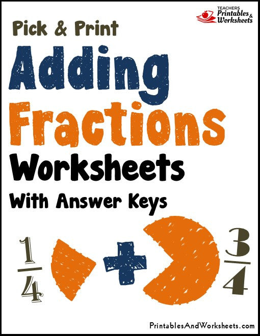 Adding Fractions Worksheets with Answer Keys
