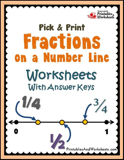 Fractions and Mixed Numbers on a Number Line Worksheets – Number Line Fraction Worksheets