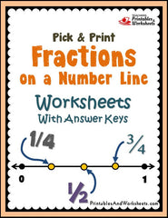 photograph about Number Line Printable named Fractions upon a Amount Line Worksheets