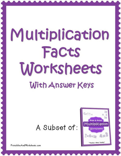 Missing Factors Worksheets with Answer Keys Cover