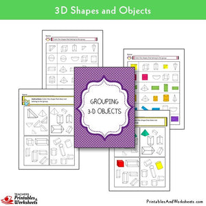 Grouping 3d Shapes Worksheets