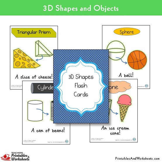 3D Shapes Worksheets - Printables & Worksheets