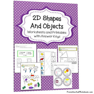 2d Shapes and Objects Worksheets Cover
