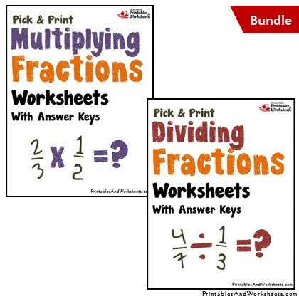 Multiplying and Dividing Fractions Worksheets