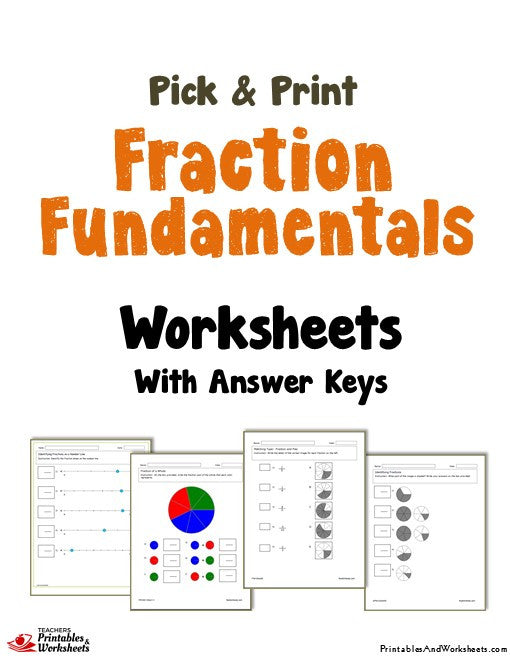 Fundamentals of Fractions Worksheets Cover