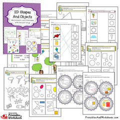 2D and 3D Shapes Worksheets Bundle