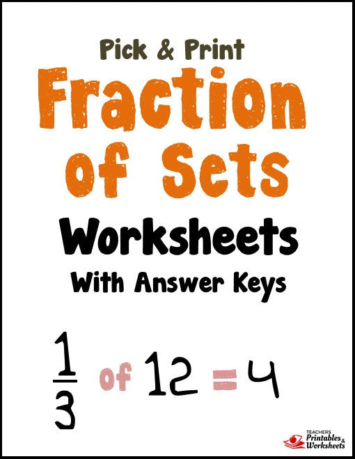 Fraction of Sets Worksheets with Answer Keys