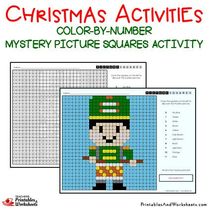 Christmas Color By Number Mystery Picture Activities