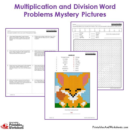 3rd grade multiplication and division word problem coloring worksheets printables worksheets. Black Bedroom Furniture Sets. Home Design Ideas