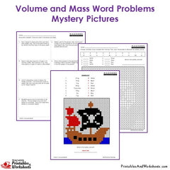 3rd grade volume and mass word problems coloring worksheets