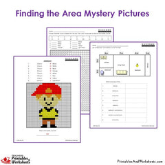 3rd Grade Area Mystery Pictures Coloring Worksheets Printables