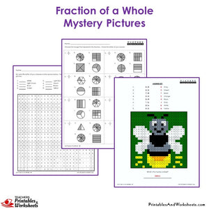 Grade 3 Fraction of a Whole Coloring Worksheets - Firefly